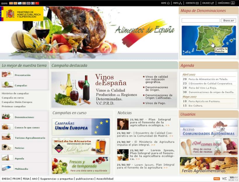 Web de Alimentacion 2
