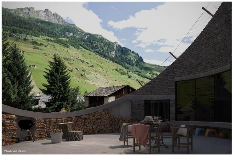Villa de Vals Exterior 3D 1