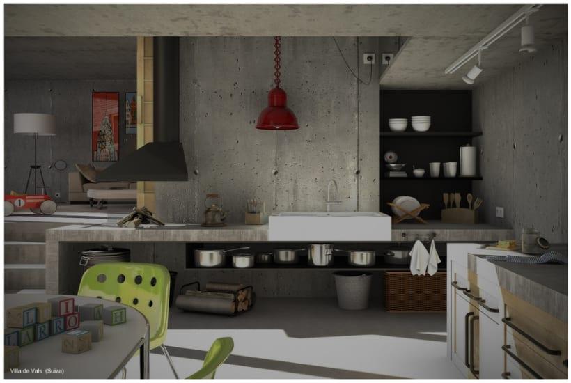 Villa de Vals Interior 3D 1