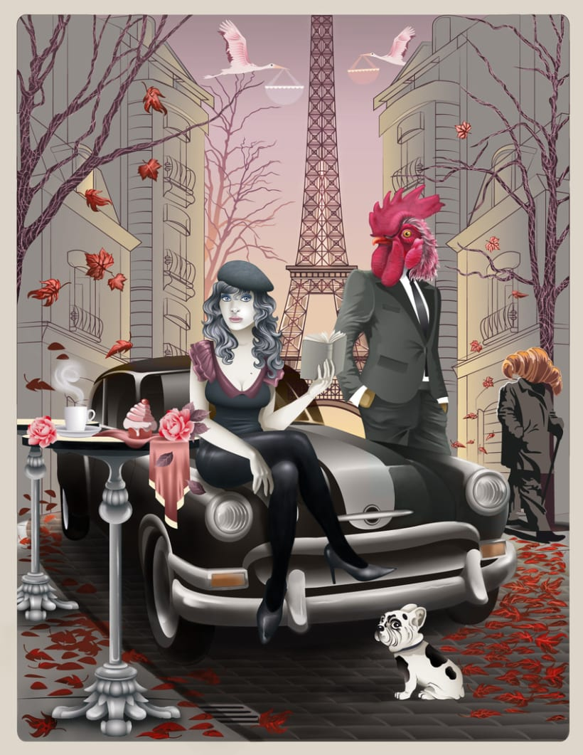 Atardecer en París 1