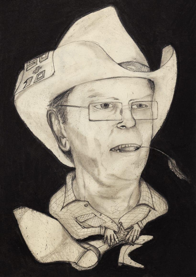 Ilustración | Caricatura Cowboy 2