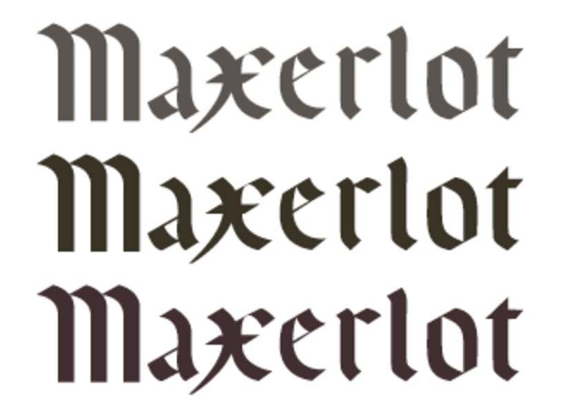 MAXERLOT lettering 4