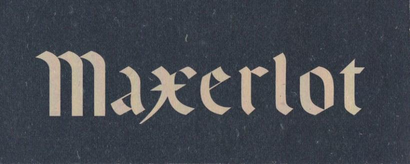 MAXERLOT lettering 5