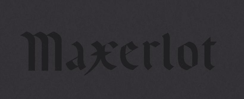 MAXERLOT lettering 6