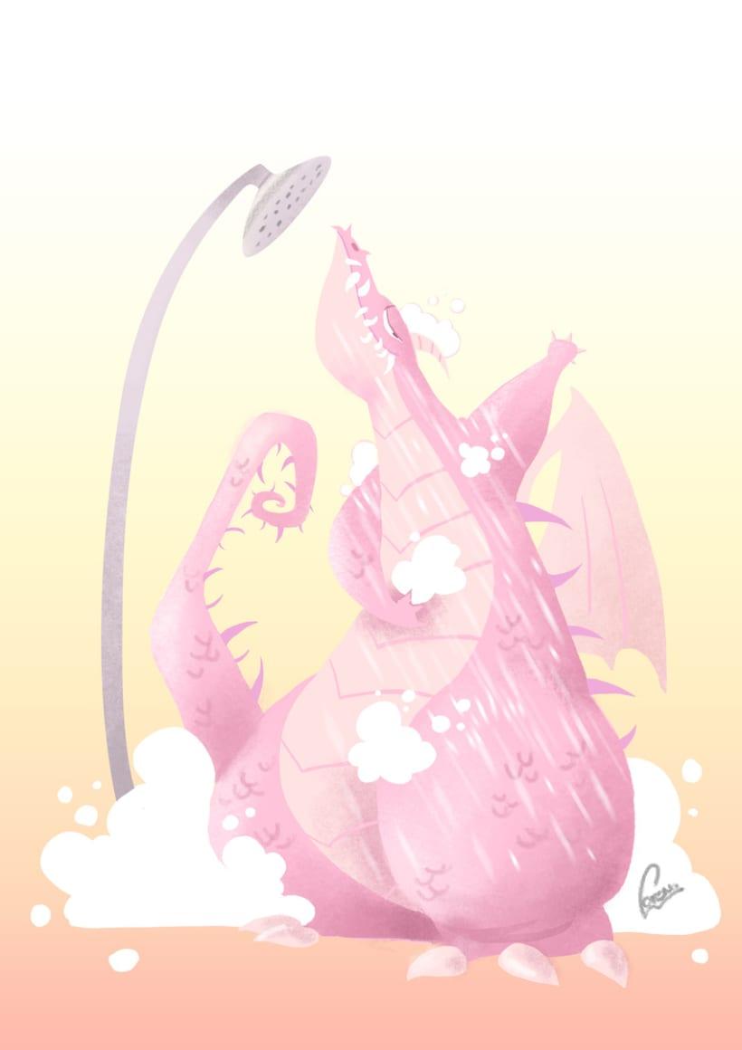 dragones en el baño 3