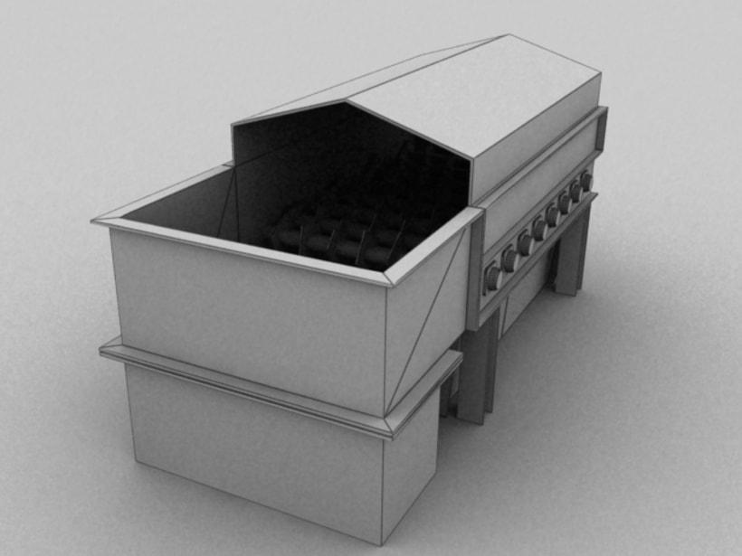 Realización de maquinaria en 3D para vídeo de promoción 3
