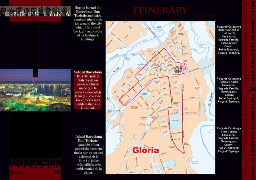 Diseño de folleto turístico para Barcelona 1