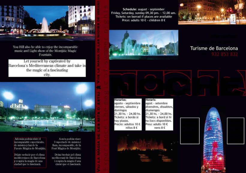 Diseño de folleto turístico para Barcelona 2