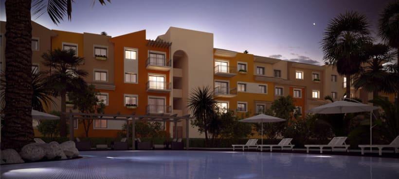 3D residencial Marruecos 2