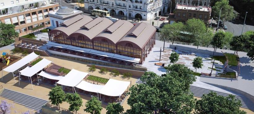 Fotomontaje 3D Sevilla 2