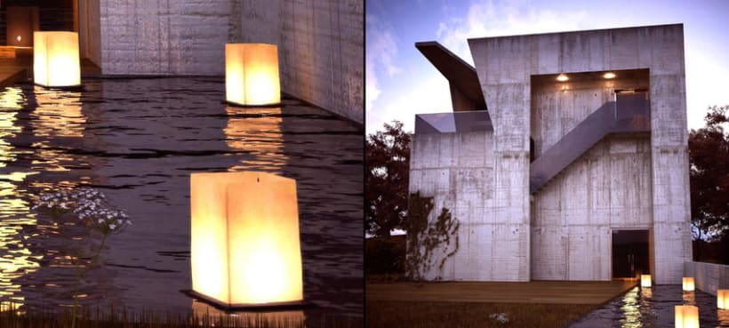 Diseño 3D vivienda privada 1