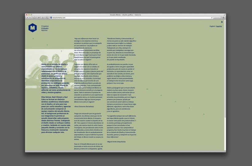 Nueva web Estudio Menta 5