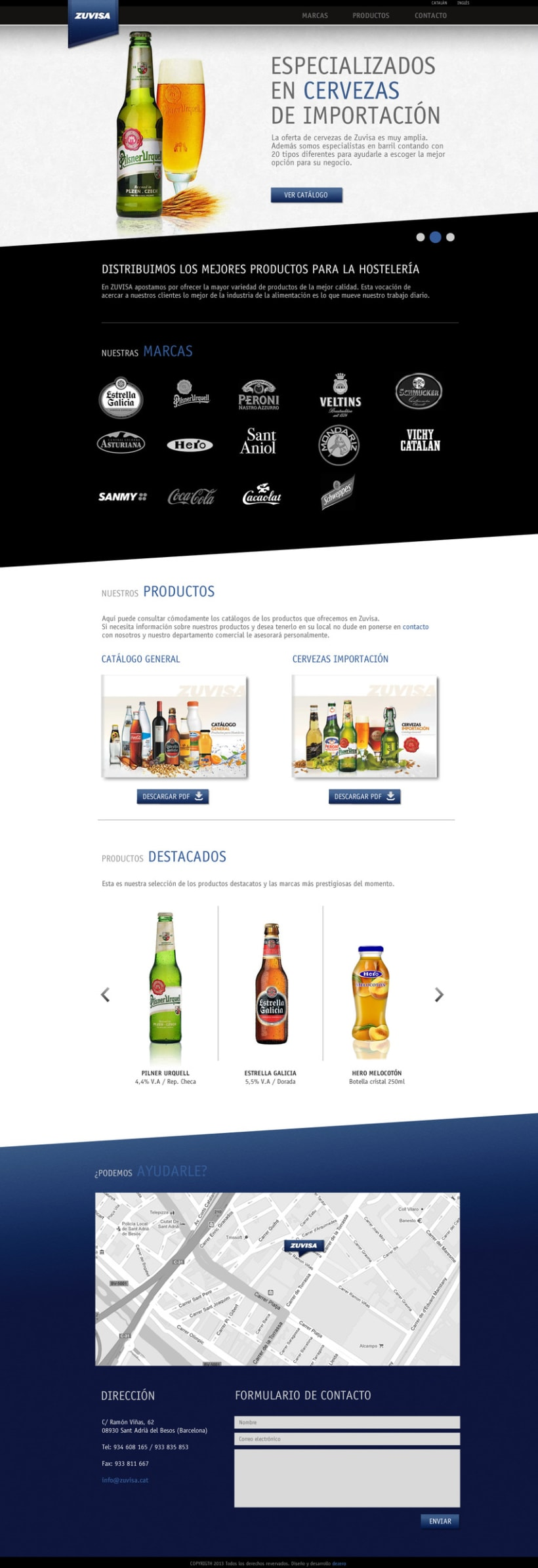 Zuvisa. Diseño web 3