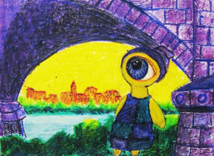 Ilustraciones con Ceras de Colores 6