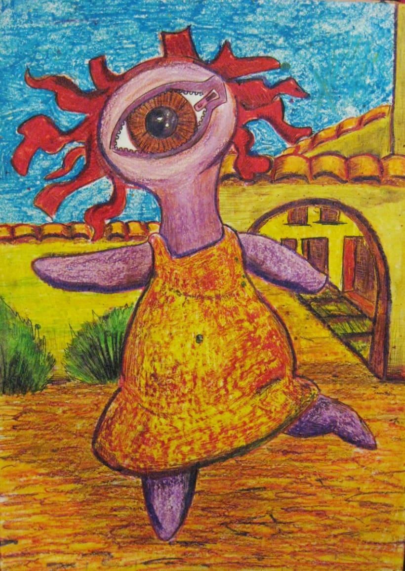 Ilustraciones con Ceras de Colores 4