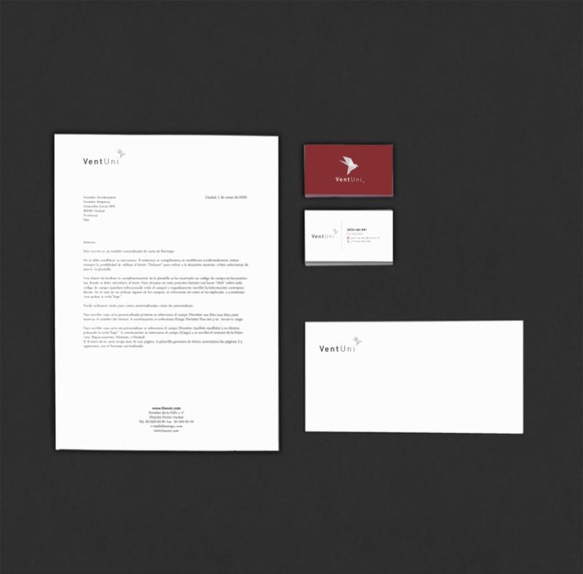 VentUni logo y tarjeta de visita 1