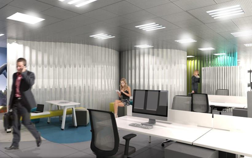 Concurso dise o oficinas domestika for Diseno de oficinas inmobiliarias