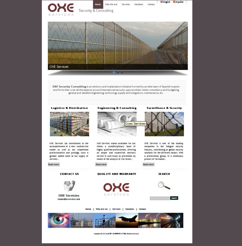 OXE SERVICES - Security & Consulting 2
