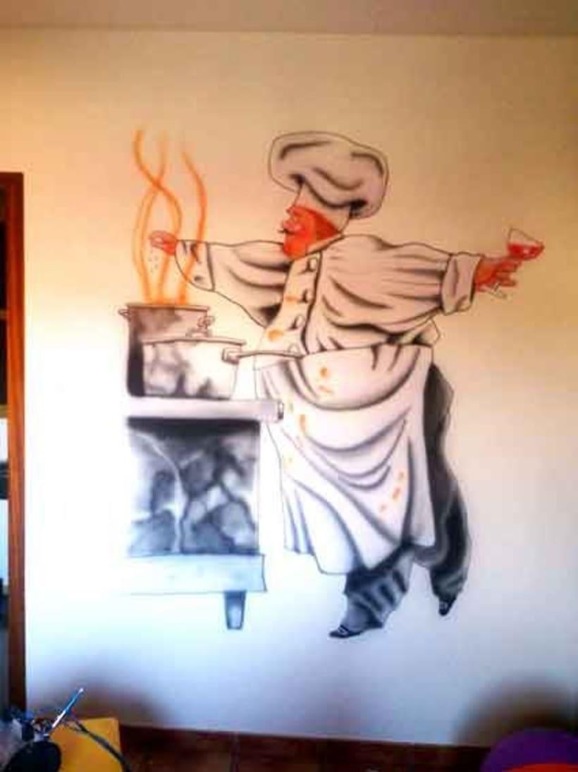 Aerografías murales 4