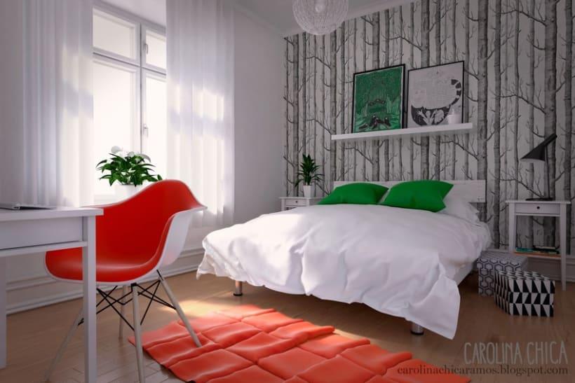 Habitaci n 3d domestika for Planificador habitacion 3d