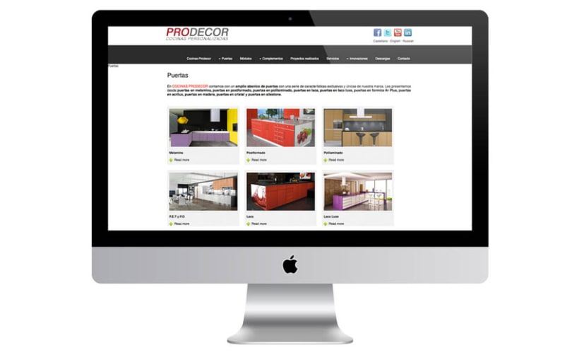 Web Cocinas Prodecor 4