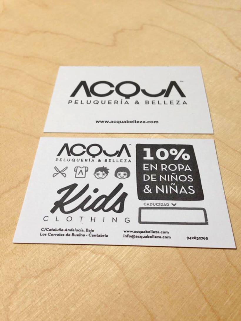 Tarjeta de descuento en ropa de niños para ACQUA | Peluquería & Belleza 9