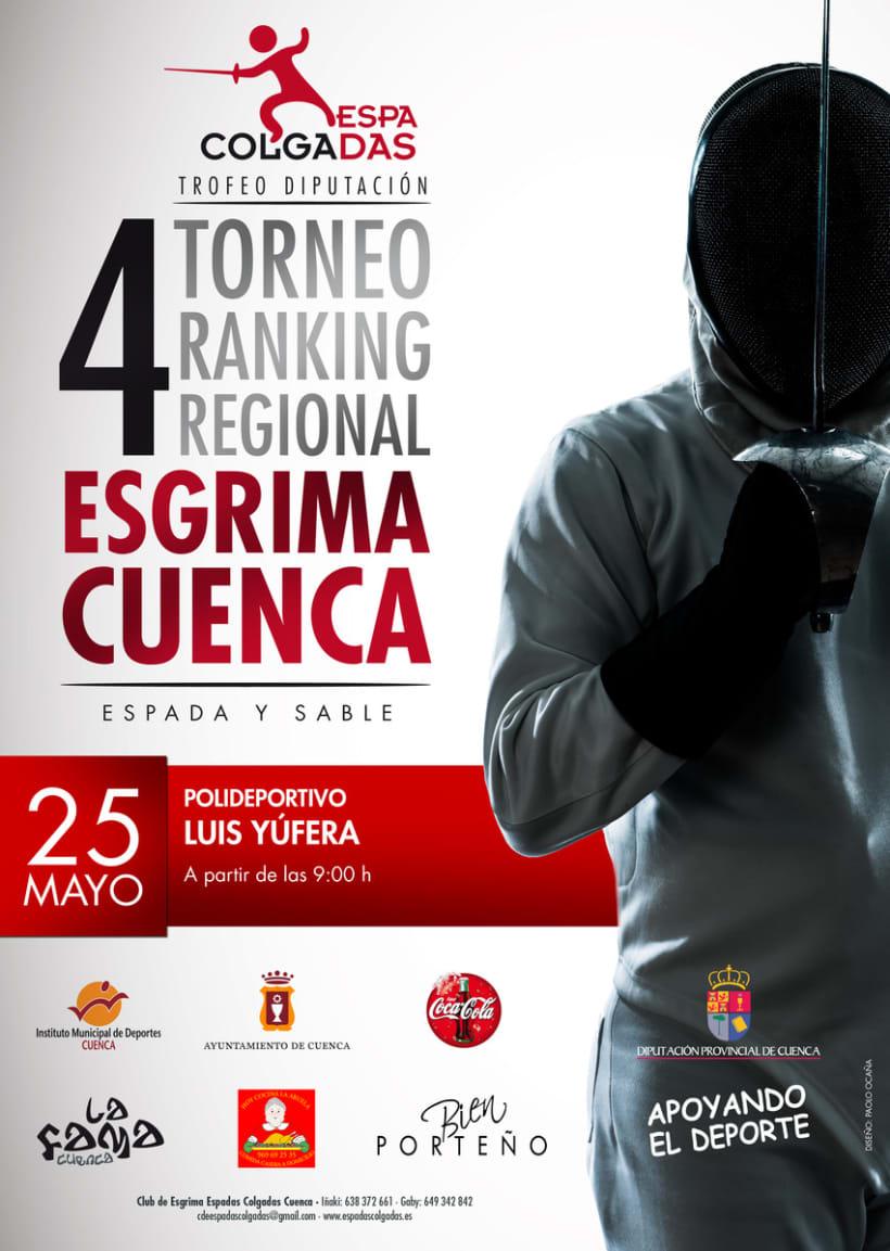 Cartel Torneo Regional de Esgrima 1