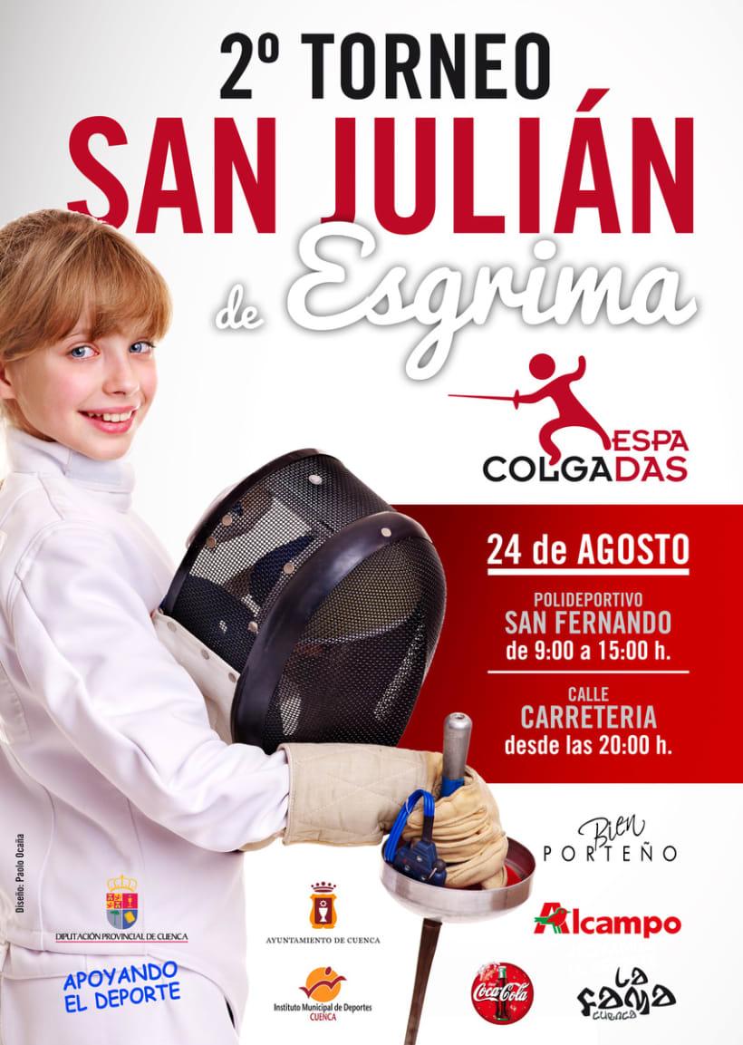 Cartel II Torneo de San Julian Esgrima 1