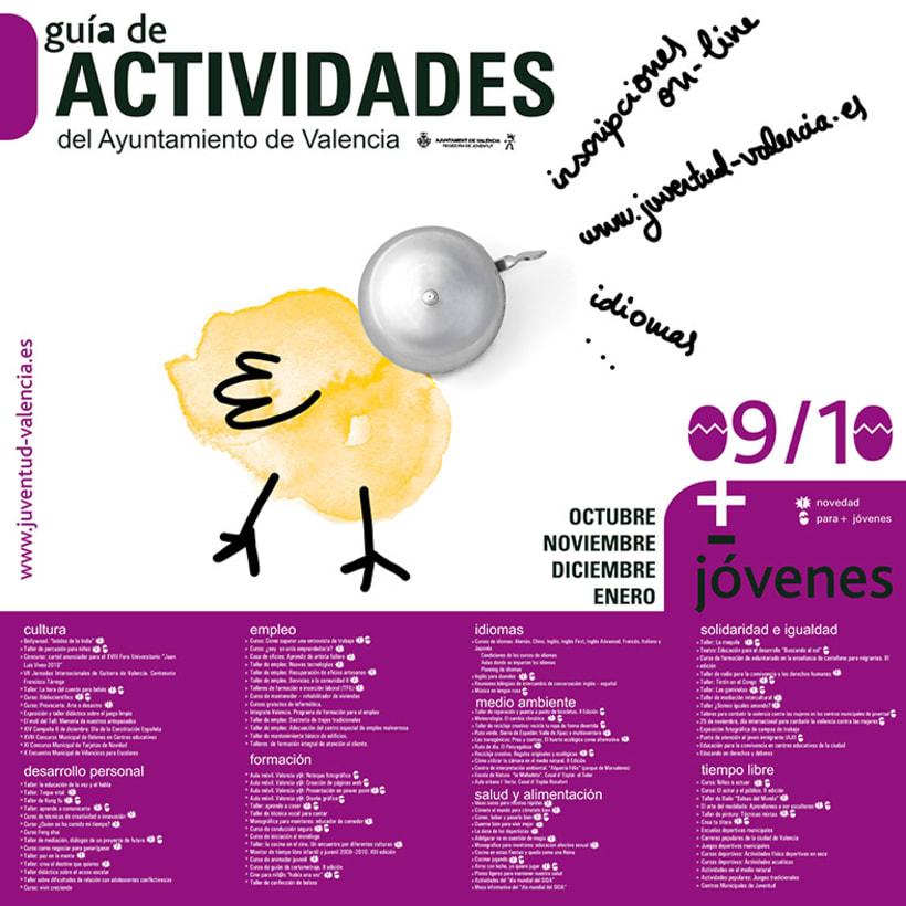 Campaña gráfica Guía de Actividades Concejalía de Juventud valencia 09/10 5