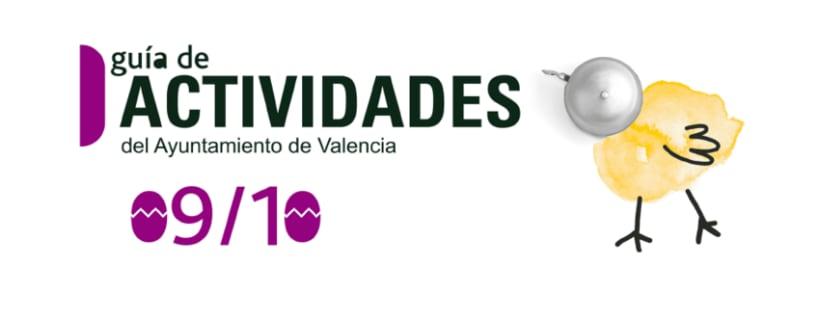 Campaña gráfica Guía de Actividades Concejalía de Juventud valencia 09/10 2