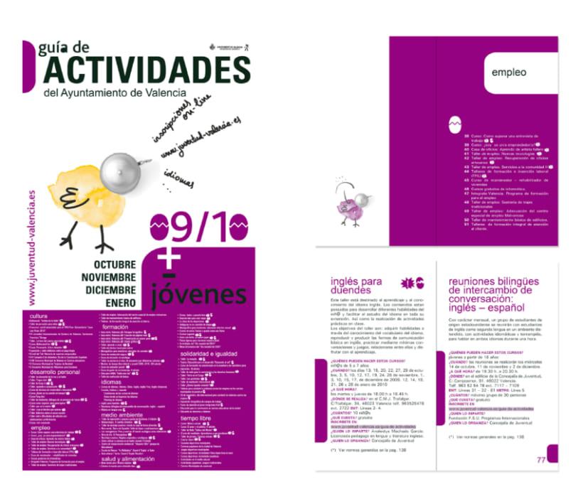 Campaña gráfica Guía de Actividades Concejalía de Juventud valencia 09/10 4
