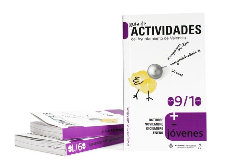 Campaña gráfica Guía de Actividades Concejalía de Juventud valencia 09/10 3