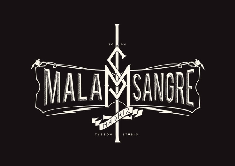 MALA SANGRE TATTOO STUDIO. Identidad Visual 1
