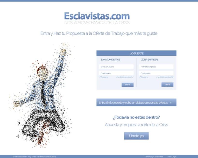 Esclavistas.com website & logo 3