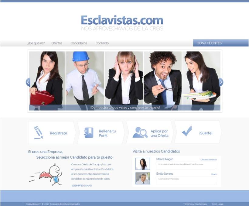 Esclavistas.com website & logo 4