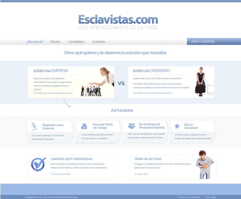 Esclavistas.com website & logo 5