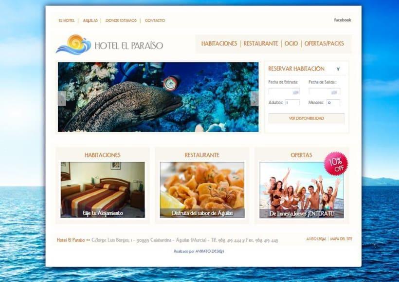 Hotel el Paraíso Logo & website 3