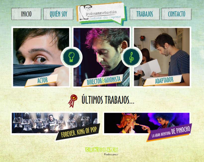 Jesús Sanz Sebastián website & logo 2