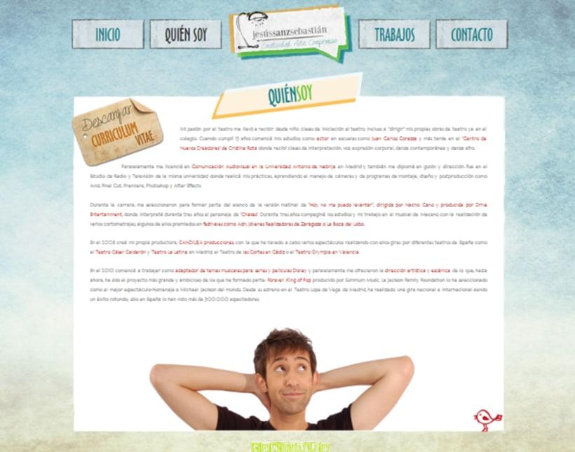 Jesús Sanz Sebastián website & logo 3