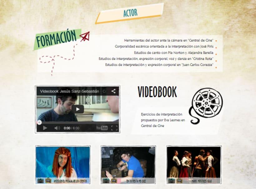 Jesús Sanz Sebastián website & logo 4
