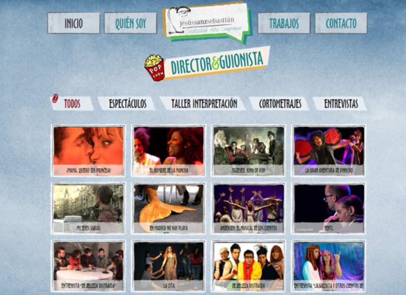 Jesús Sanz Sebastián website & logo 5