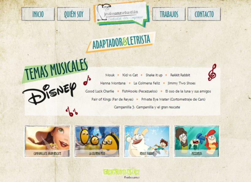 Jesús Sanz Sebastián website & logo 6