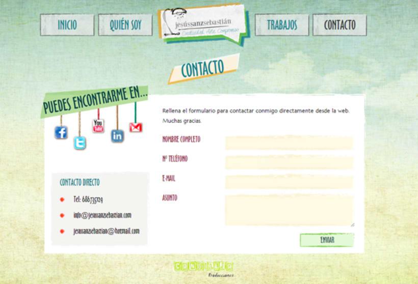 Jesús Sanz Sebastián website & logo 7