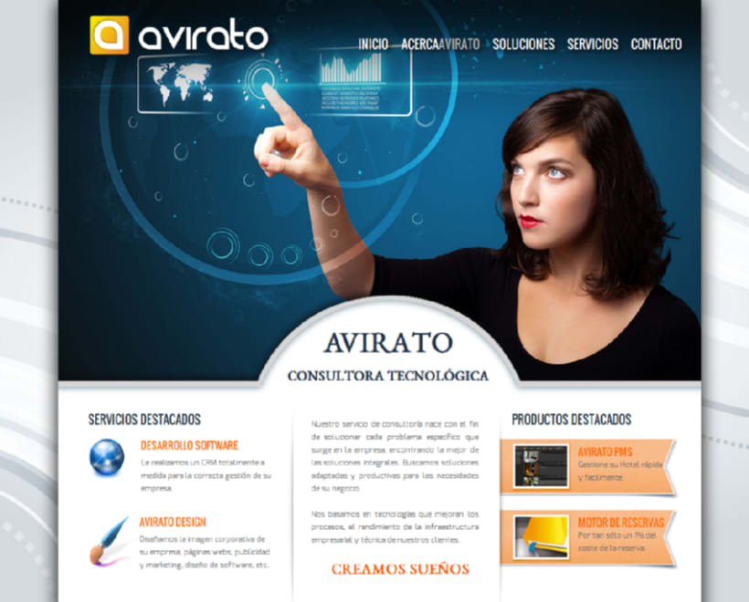 Avirato website & logo 1
