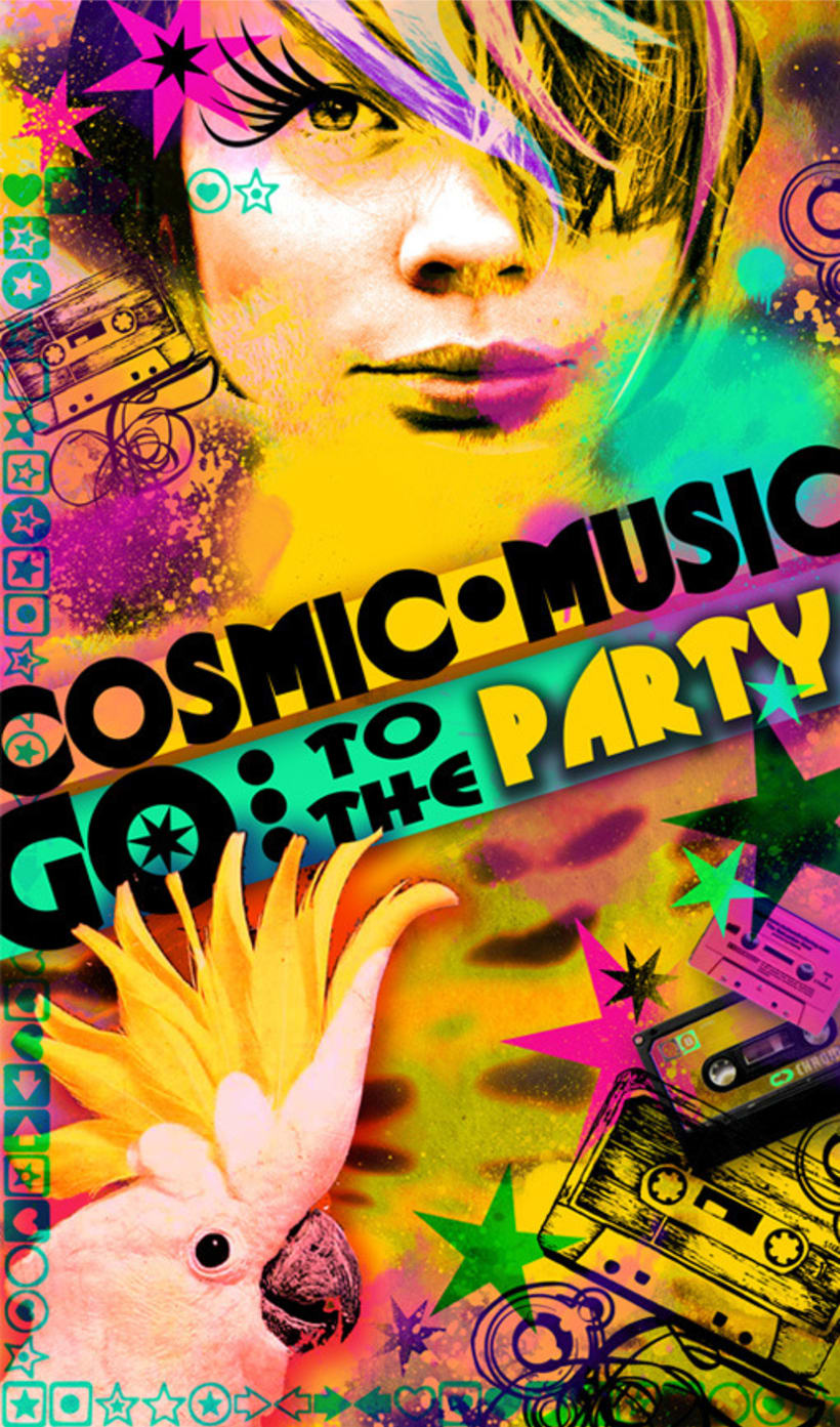 flyers 'cosmic music' Barcelona 4