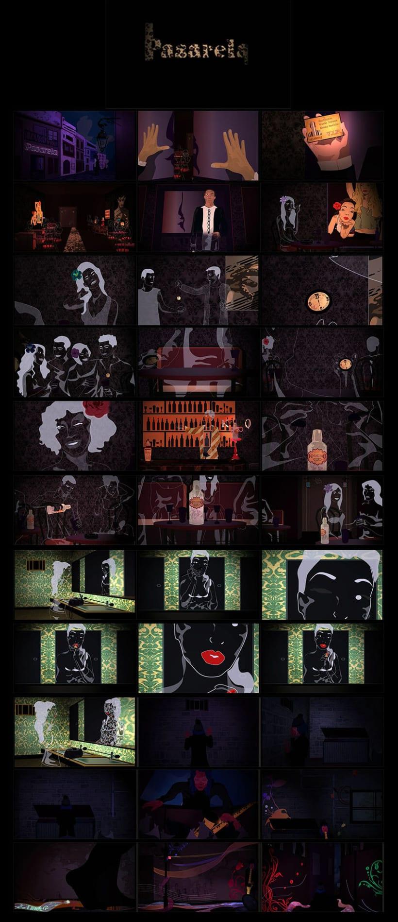 Storyboard/Fotogramas Finales de la animación Pasarela 1