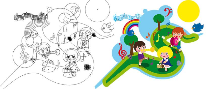 Ilustraciones para libros de Música 2