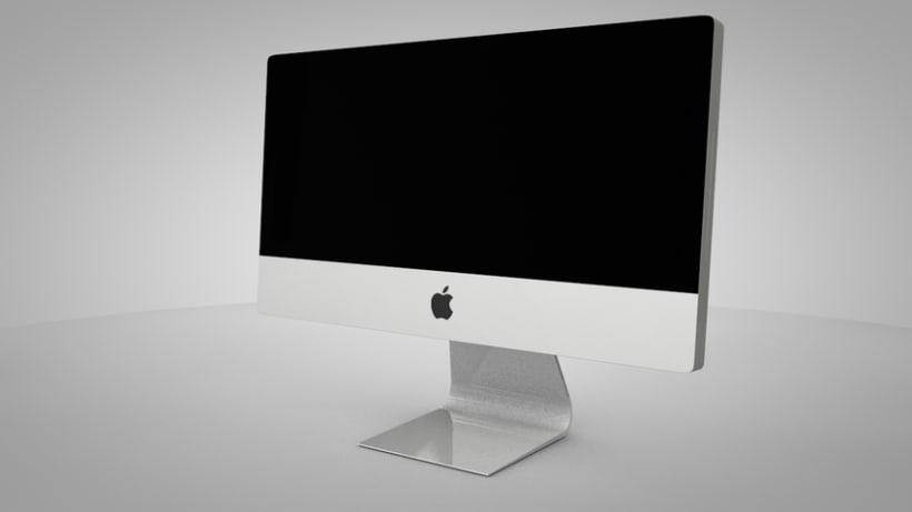 Modelado pantalla Mac con cinema 4D 1