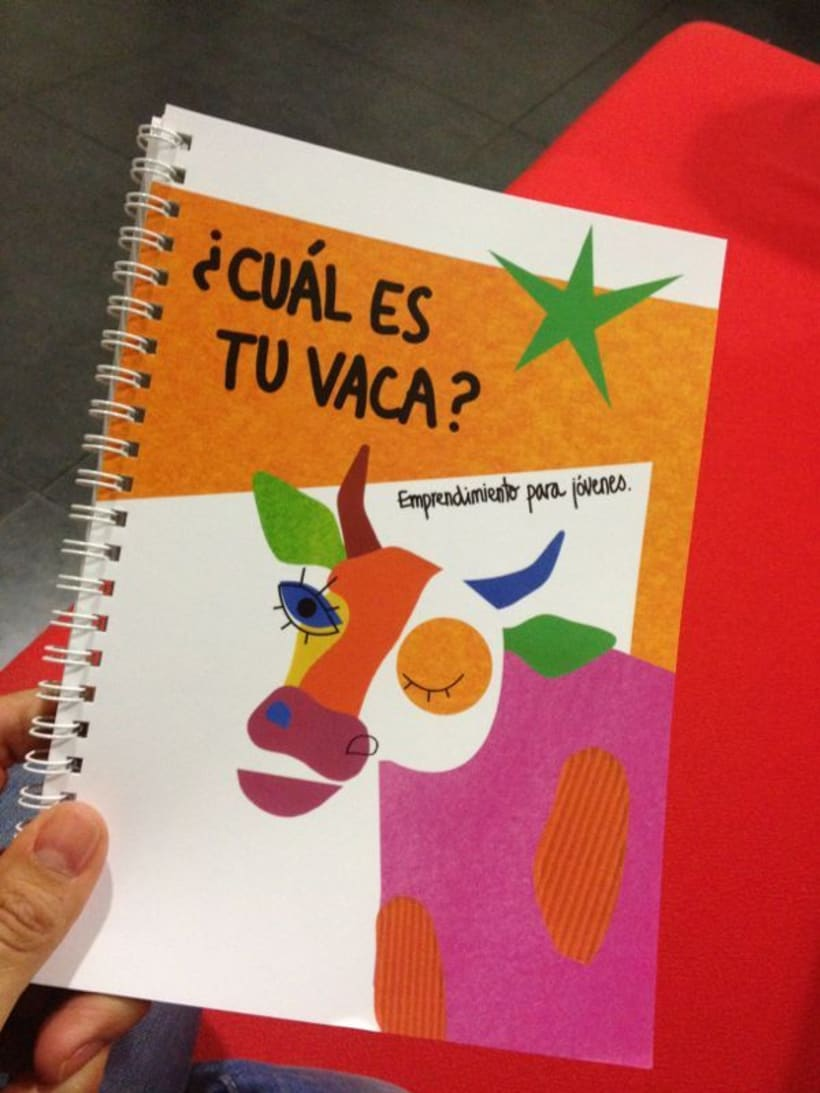 """Cover """"¿Cuál es tu vaca?"""" (cuaderno de emprendimiento para jóvenes) 3"""