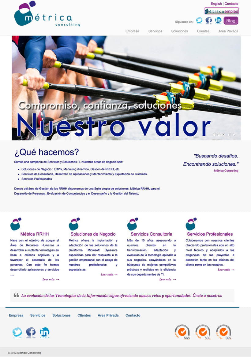 Página Web de Metrica Consulting, S.L. 1